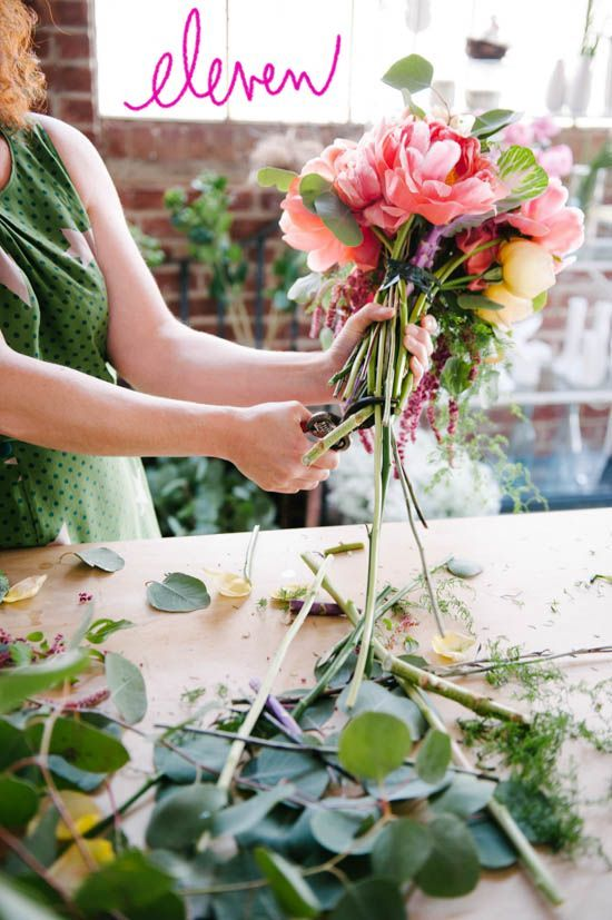 We will be doing this...!  How To Make A Colorful Oversized Wedding Bouquet A Practical Wedding: Blog Ideas for the Modern Wedding, Plus Marriage