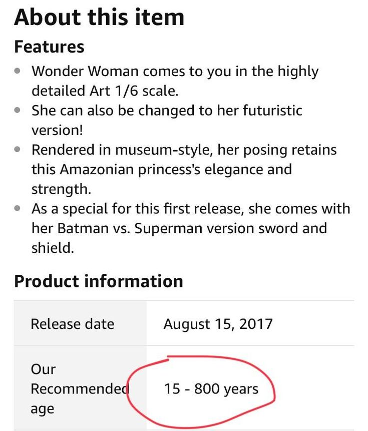 This Wonder Woman statues suggested age. 15-800 years (which is what Patty Jenkins surmises Dianas age to be)