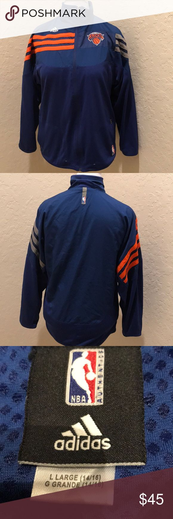 Adidas NY Knicks jacket Youth Large CCO!! Excellent condition. From NBA store. Size 14/16 adidas Jackets & Coats