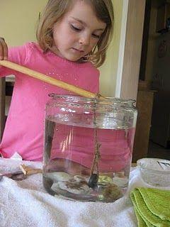 vissen met een magneet, spannend!