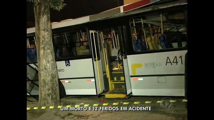 Ônibus desgovernado bate no Sambódromo (RJ): idosa morre e 12 ficam feridos - Vídeos - R7