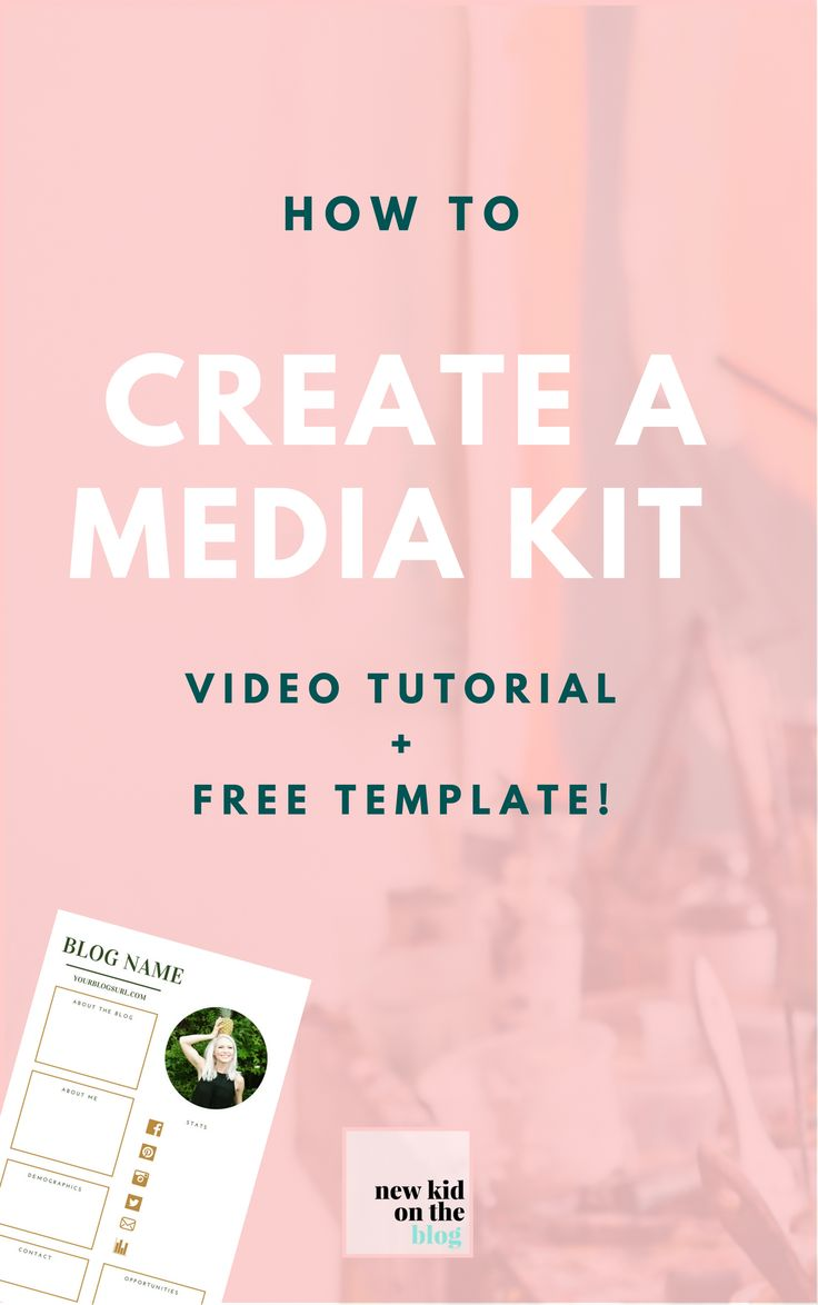 Check out my video tutorial for how to make your own media PLUS a free media kit template!