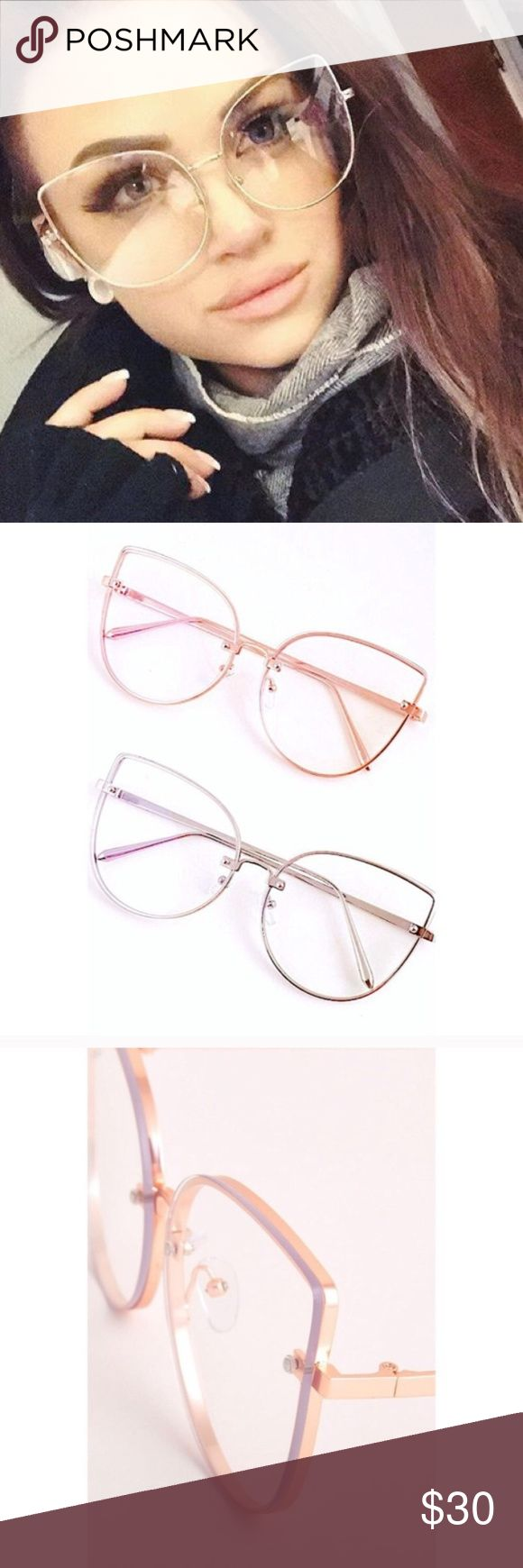 NEW ARRIVAL- Retro cat eye glasses Vintage design cat eye frames with clear lenses Accessories Glasses