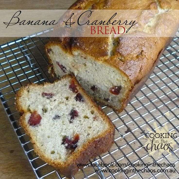 Banana Cranberry Loaf - Thermomix Recipe - Cooking in the Chaos