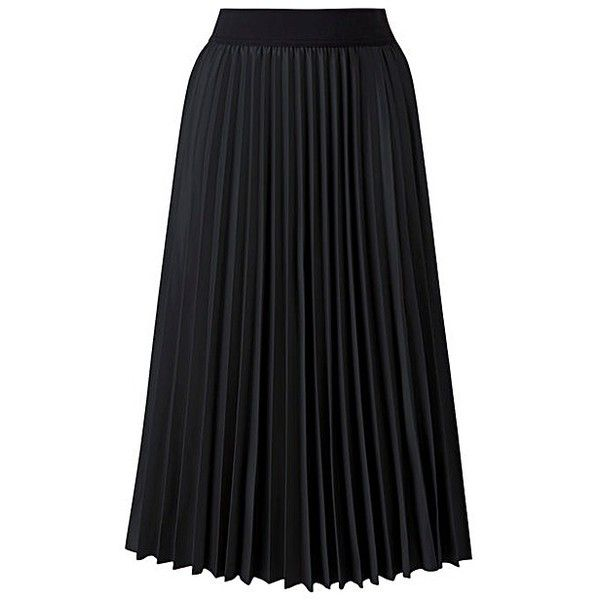 Wet Look Sunray Pleat Midi Skirt ($52) ❤ liked on Polyvore featuring skirts, mid calf skirts, shiny skirt, elastic waist skirt, midi skirt and wet look skirt