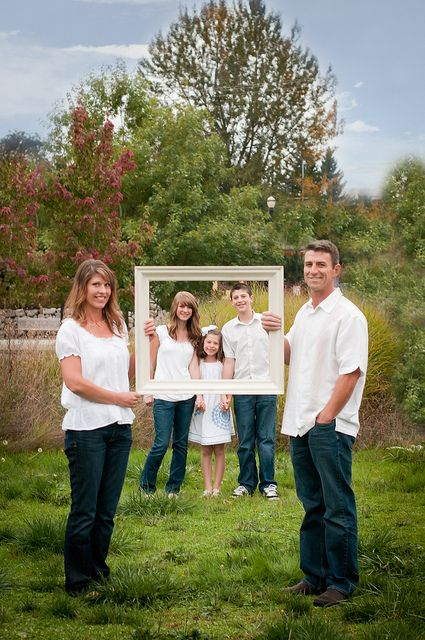 Love this idea.  Could do for wedding with parents on outside and couple inside.
