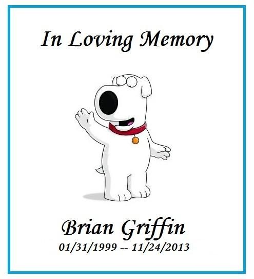 Brain Griffin is back on family good because I didn't like that new dog at all