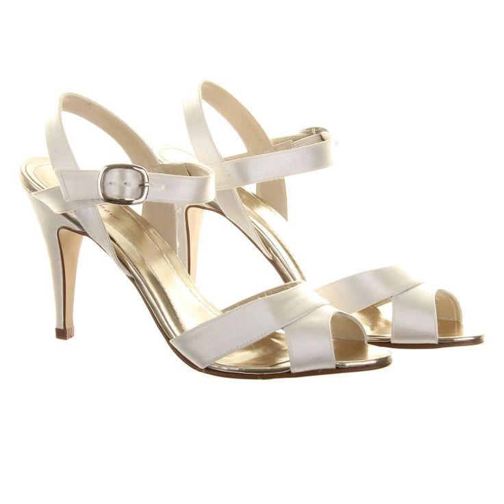 2016 Hot Sale Rainbow Club Nigella Satin Sandals Women Ivory FMMAA69