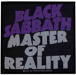 """Official licensed sew on Black Sabbath patch. Size measures 10cm (4"""") x 10cm (4"""") , perfect for your jackets, jeans, shirts, bags etc"""