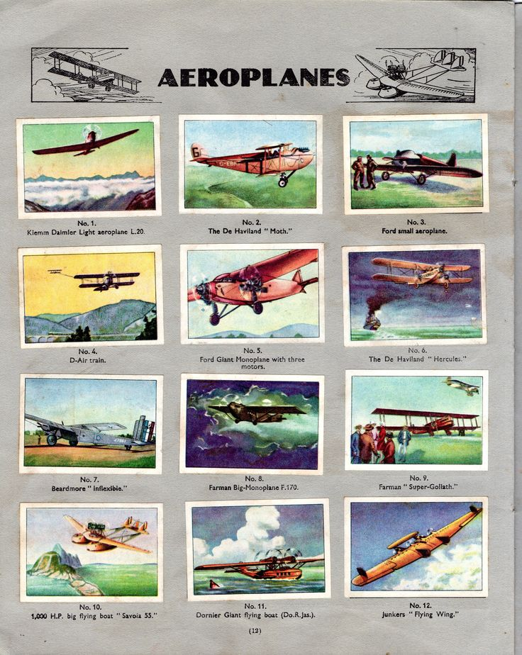 NESTLE': Wonders of the World (1932 - Aeroplanes)