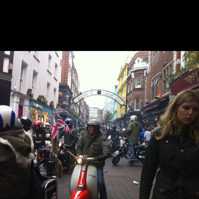 Mopeds on Carnaby Street