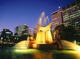 Adelaide CBD at night!