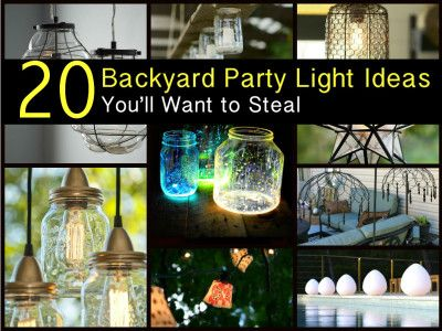 20 Beautiful Backyard Party Light Ideas Youu0027ll Want to Steal & 25+ unique Backyard party lighting ideas on Pinterest | Backyard ... azcodes.com