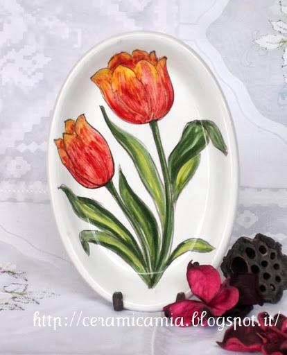 Piattino di ceramica dip.a mano #Majolica #Italy http://ceramicamia.blogspot.it/