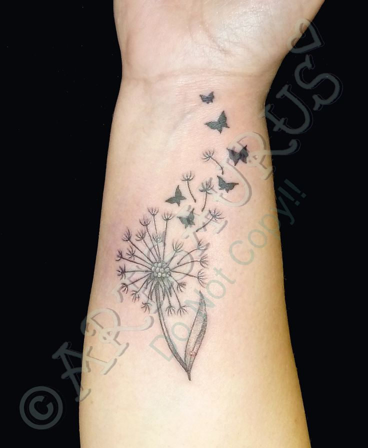 dandelion and butterfly tattoo - Google Search