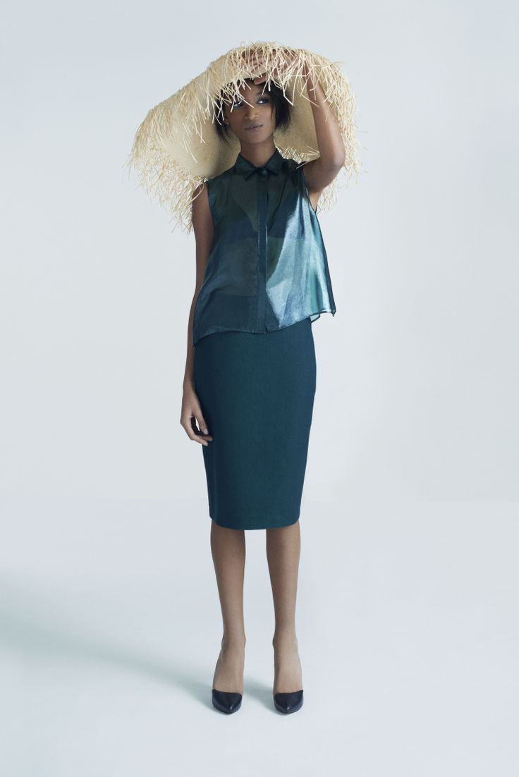 Summer Sun Hat, Oona Top and Pencil Skirt | Samuji Pre-Fall 2014 Collection
