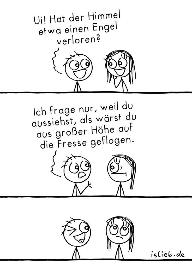 Engel vom Himmel. Is lieb? | #spruch #sprüche #flirten #comic #islieb