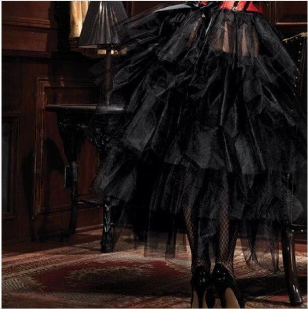 Sexy Fantasy Corpete Tutu Skirts Mesh Goth Steampunk Gothic Skirt for Burlesque Dancer Women Corselet E Espartilho