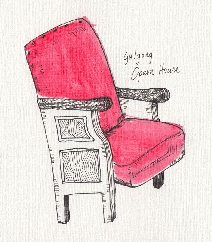 Gulgong Opera House seat