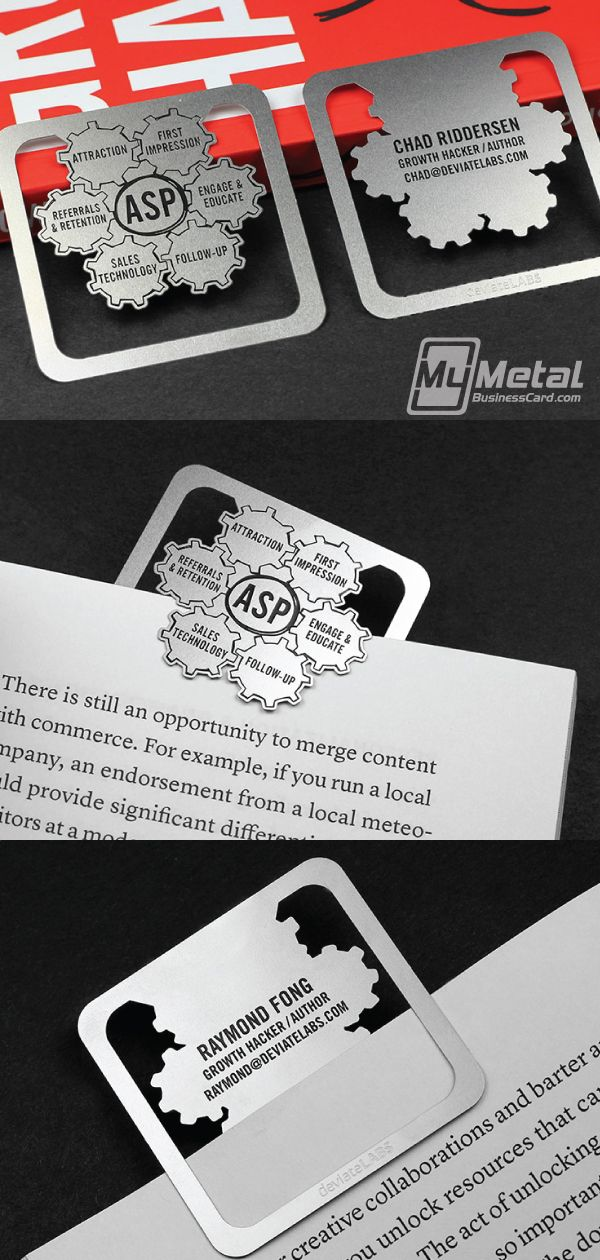 Metal Bookmarks For Growth Hacking Silicon Valley S Best Kept Secret World Leader In Metal Business Cards Metal Business Cards Metal Bookmarks Business Cards Creative