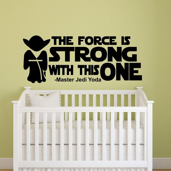 STAR WARS Baby Room Jedi Wall Decal Sticker Vinyl Silhouette Art Decor On  Etsy, $21.82 Part 73