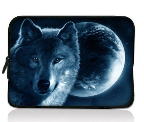 "Wolf and the Moon 15"" 15.4"" Laptop Sleeve Case Bag for Hp Pavilion G6"