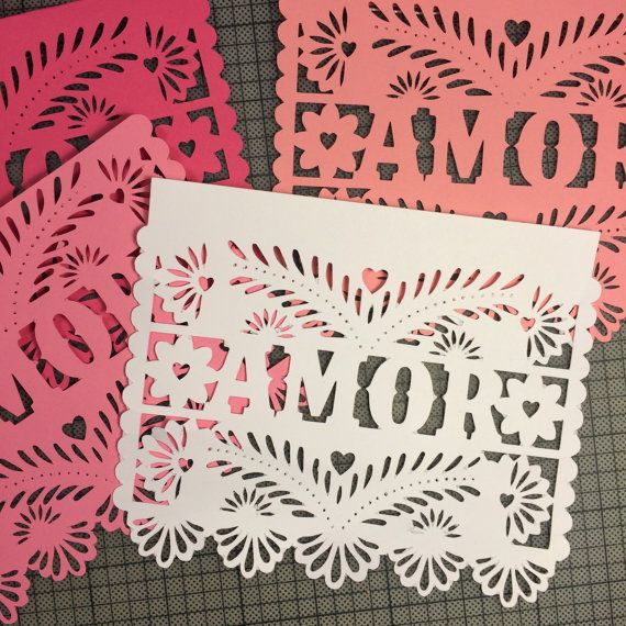 Papel Picado Flags Paper Banners for Weddings Amor by lulaflora