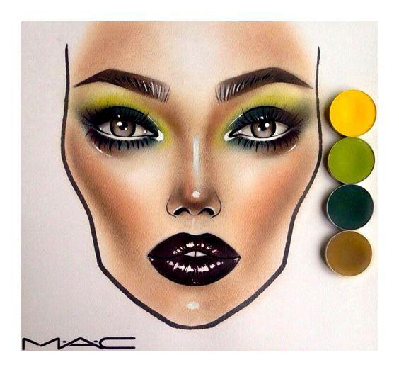 Beliebt 120 best face charts images on Pinterest | Mac face charts, Makeup  UT16