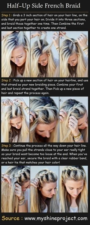 oh my gosh, did I just learn how to french braid?