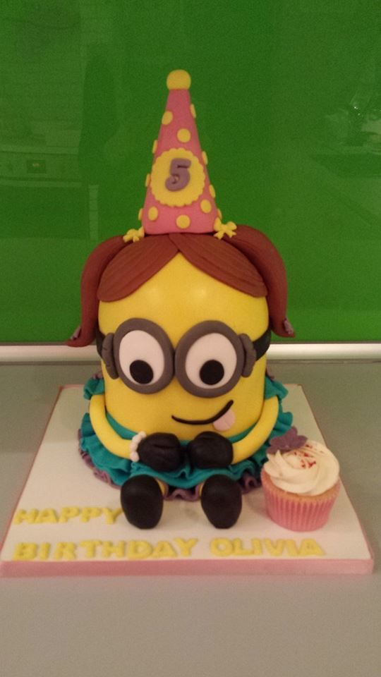 minion girl cake by cupcakes forever