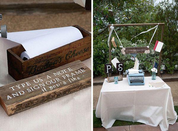 decoracin de boda rstica