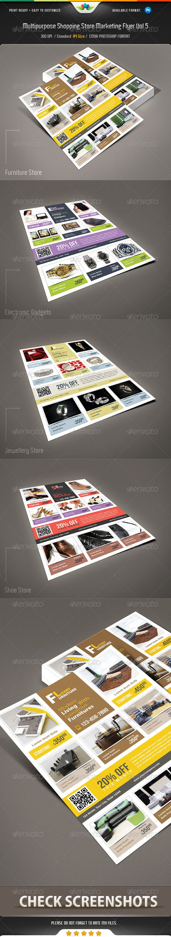 17 best images about marketing flyer multipurpose shopping store marketing flyer vol 5