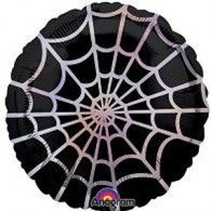 Halloween Spider Web 45cm Foil $9.90 (filled with Helium) U22763