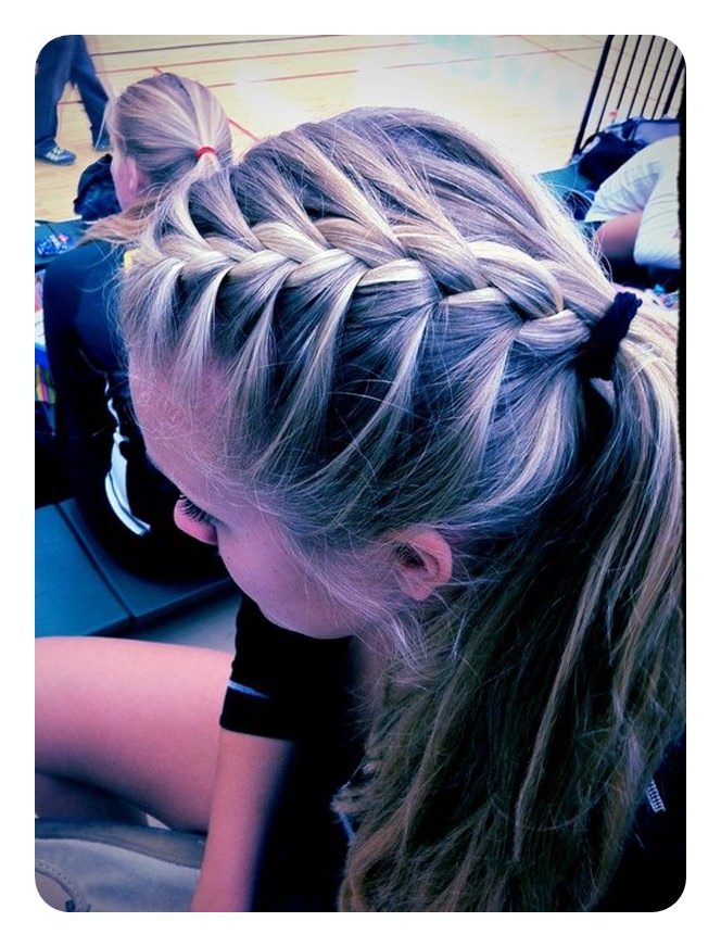 2018 Braided Hairstyles Ponytail Ideas For Spring Braided Hair Volleyball Hairstyles Sports Hairstyles Twist Braid Hairstyles