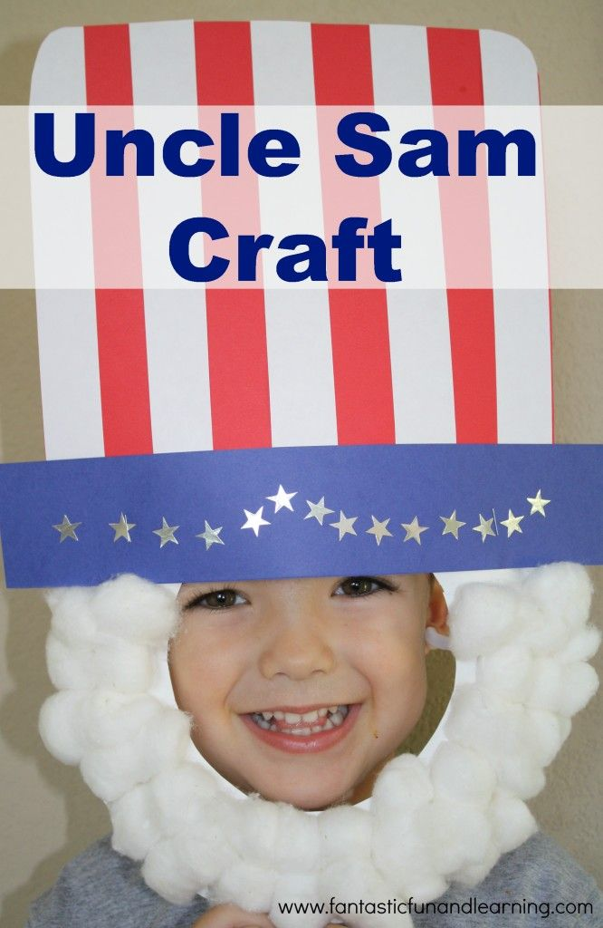 Uncle Sam Craft...fun for patriotic holidays and pretend play