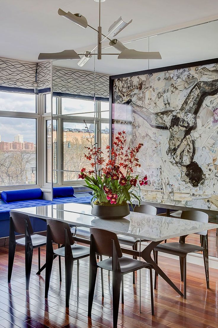 Modern dining table interior design - Ashley Darryl A Designer In New York Has A Great Balance Of Styles That Blend Dining Room Setsmodern
