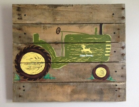 Tractor 14X 14Boys Rustic Wall ArtOld by RusticTreeHouse on Etsy, $47.99