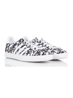 Baskets Gazelle en toile imprimée floral Blanc by ADIDAS