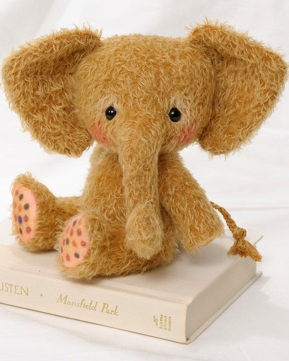 Toffee - PDF Pattern for Jointed Stuffed Plushie Child-friendly Child-safe Elephant by Cheryl Hutchinson of Bingle Bears INSTANT DOWNLOAD