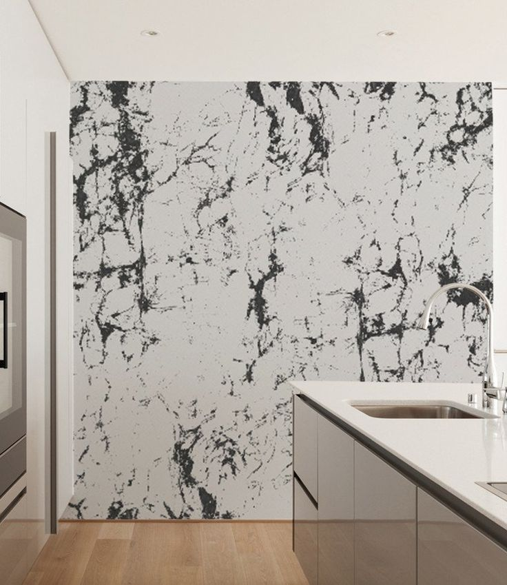 White U0026 Black Marble Wallpaper, Home And Office Wall Decor, Natural Inteiors