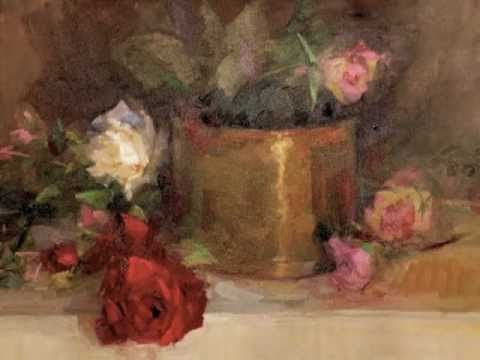 Oil Painting Demo by Artist Lori Putnam: Roses with Tarnished Brass