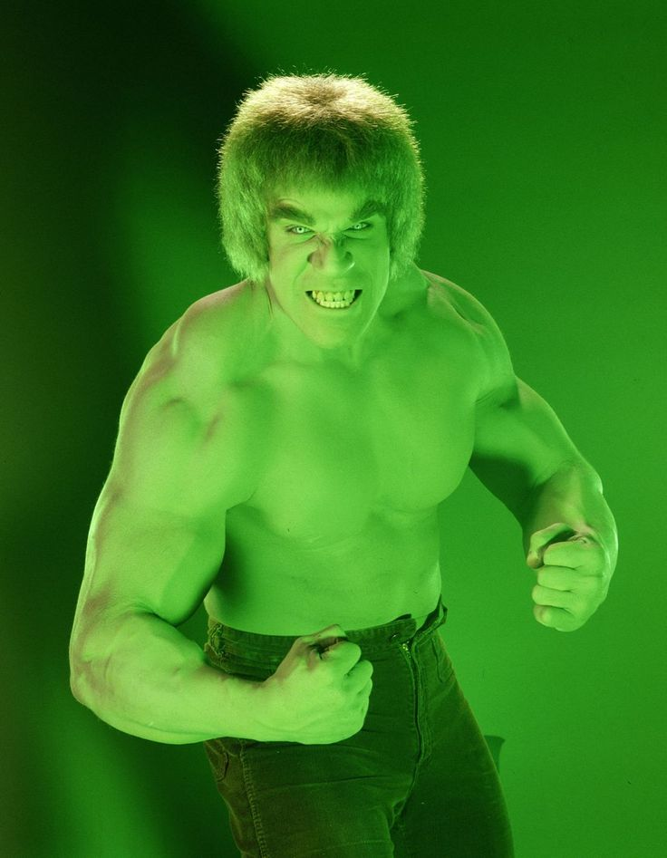 Lou Ferrigno as The Incredible Hulk (Marvel Comics).