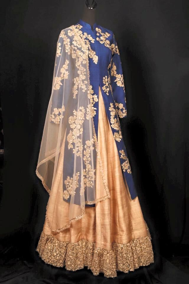 Simar Khorana Haute Couture Anarkali-fusions-drapes Inculcating class apart finish & deviant designing to every attire ! sharara , drape gowns, fusion outfits  anarkali's , crop top - skirts, Tunics