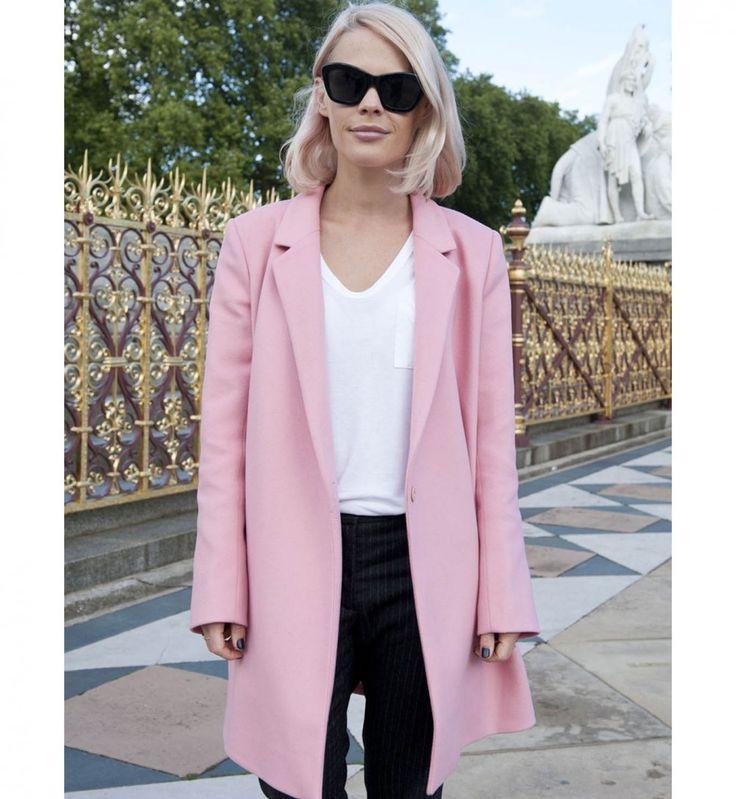 Le manteau rose, look de la Fashion Week printemps été 2014 de Londres - Cosmopolitan.fr