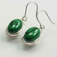 12 Malachite Earrings