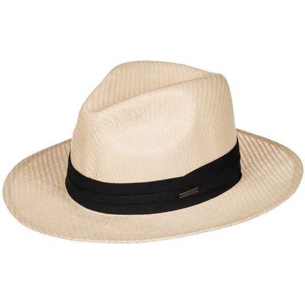 Roxy Here We Go Straw Panama Hat found on Polyvore featuring accessories, hats, multicolor, roxy hats, summer beach hats, band hats, brimmed hat and colorful hats