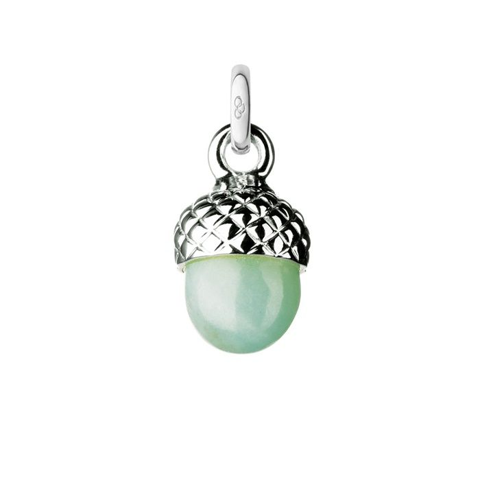 Sterling Silver & Amazonite Acorn Charm