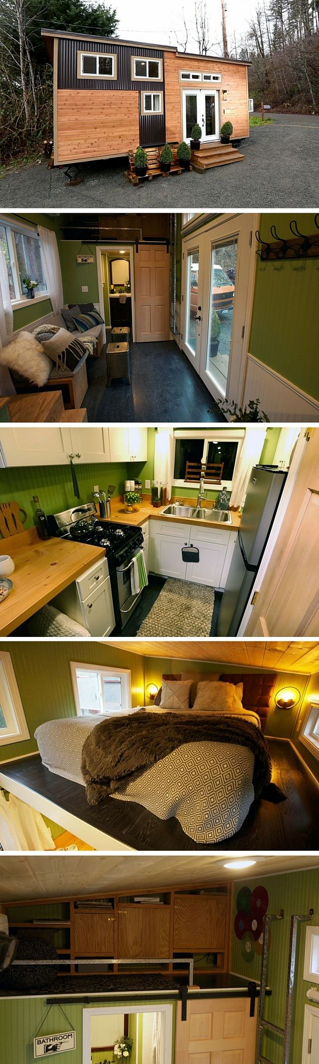 The Romantic Abode: a 240 sq ft tiny house designed for a young couple in love