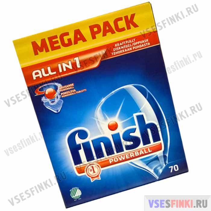 Таблетки FINISH для посудомоечной машины 70 шт