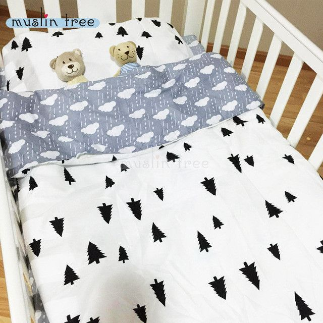 3PCS Set 100% Cotton Baby Crib Bedding Set Kids Cot Bedding Set for Cot Duvet Cover Bed Sheet Pillow Case Without Filling CP24